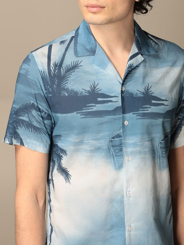 Camicia Altea: Camicia Altea in cotone a fantasia azzurro 3