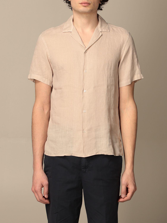 Camicia Altea: Camicia basic Altea in lino beige 1