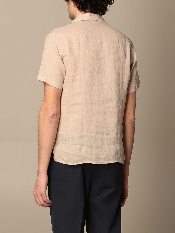 Camicia Altea: Camicia basic Altea in lino beige 2