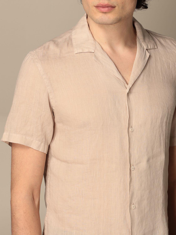Camicia Altea: Camicia basic Altea in lino beige 3