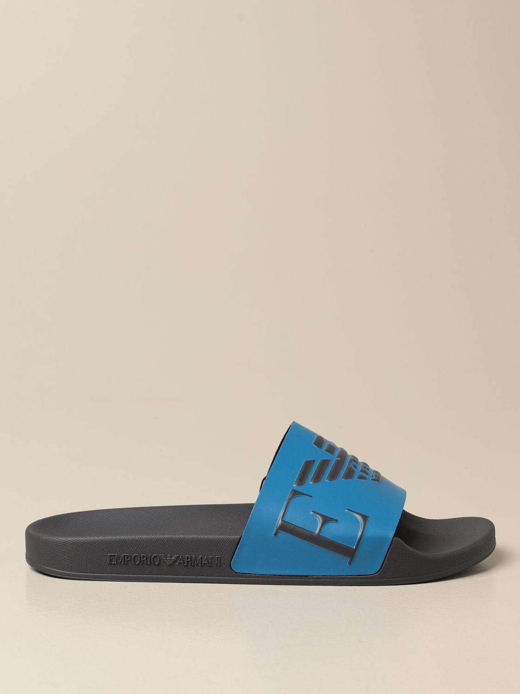 Sandals Emporio Armani: Emporio Armani Swimwear slipper sandal grey 1