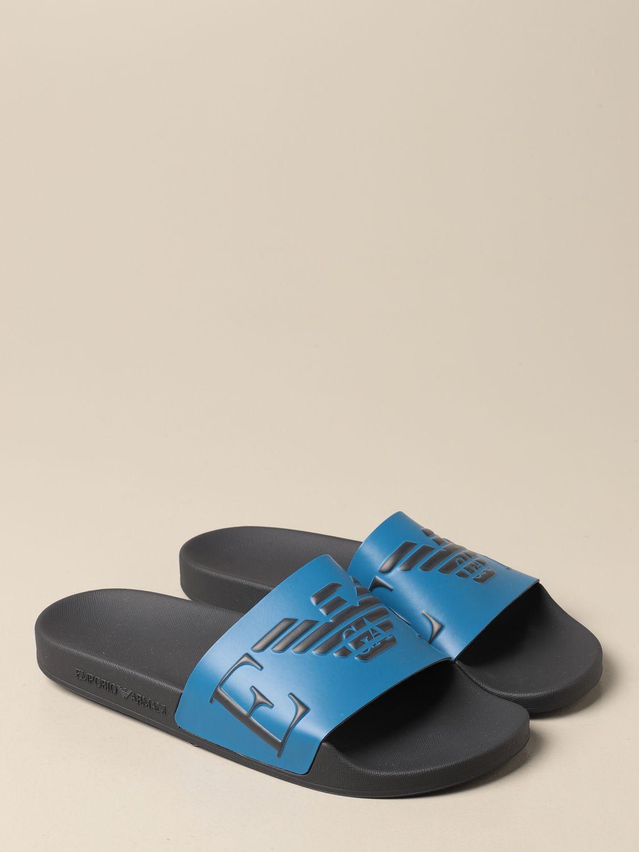 Sandals Emporio Armani: Emporio Armani Swimwear slipper sandal grey 2