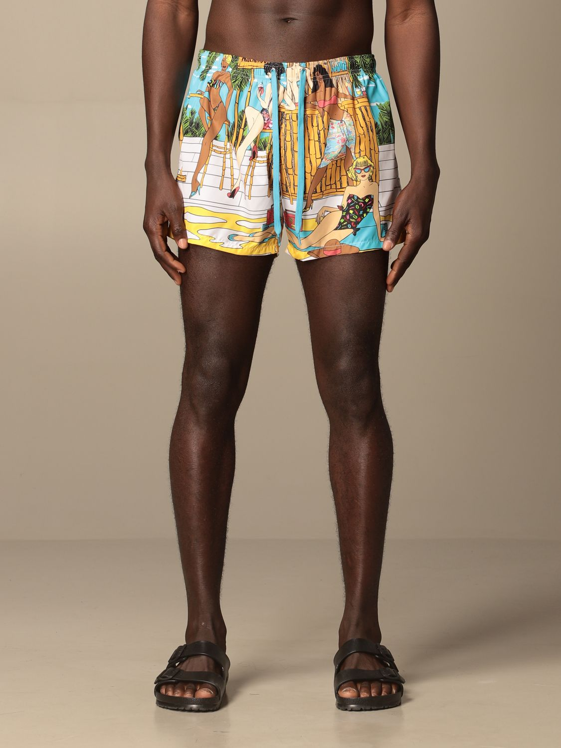 Swimsuit Boutique Moschino: Moschino Boutique printed boxer costume gnawed blue 1