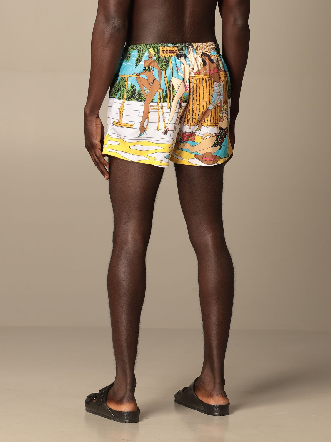Swimsuit Boutique Moschino: Moschino Boutique printed boxer costume gnawed blue 2