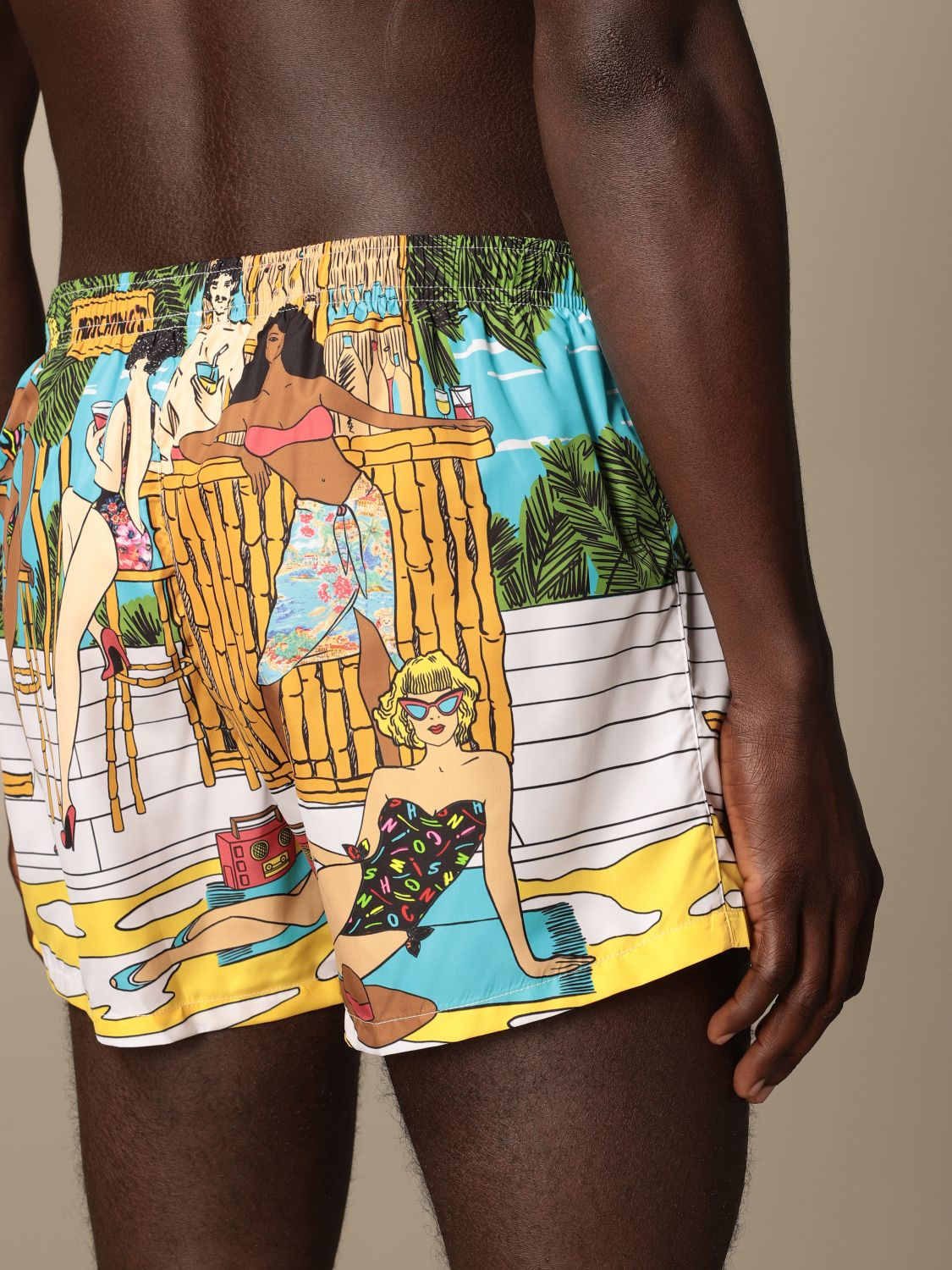 Swimsuit Boutique Moschino: Moschino Boutique printed boxer costume gnawed blue 3