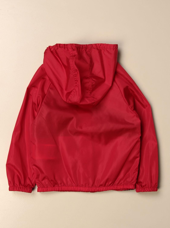 Giacca Gucci: Giacca di nylon Gucci con logo rosso 2