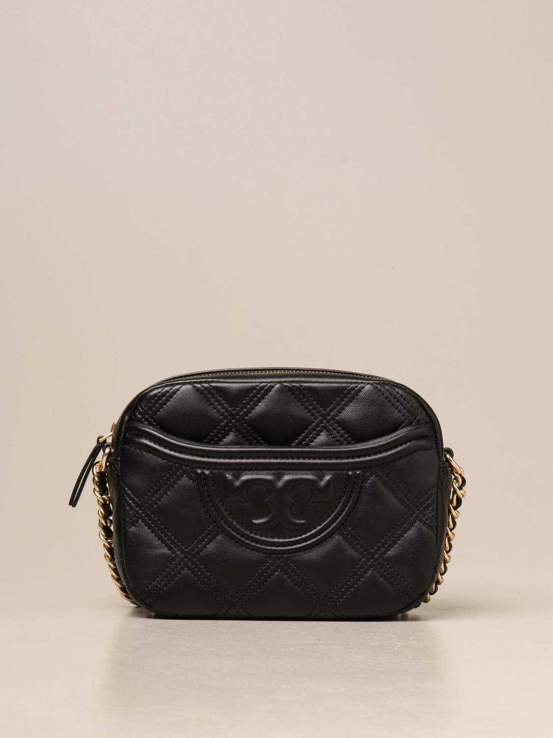 Crossbody bags Tory Burch: Feming Tory Burch bag in quilted leather black 1
