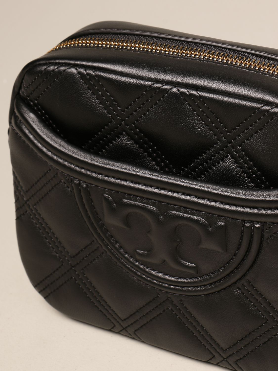 Crossbody bags Tory Burch: Feming Tory Burch bag in quilted leather black 3