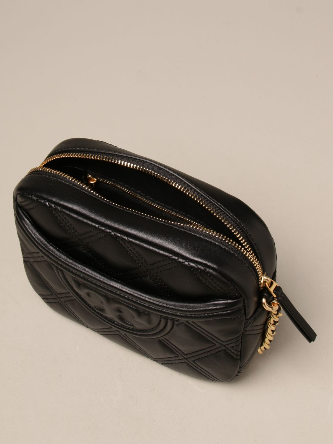 Crossbody bags Tory Burch: Feming Tory Burch bag in quilted leather black 4