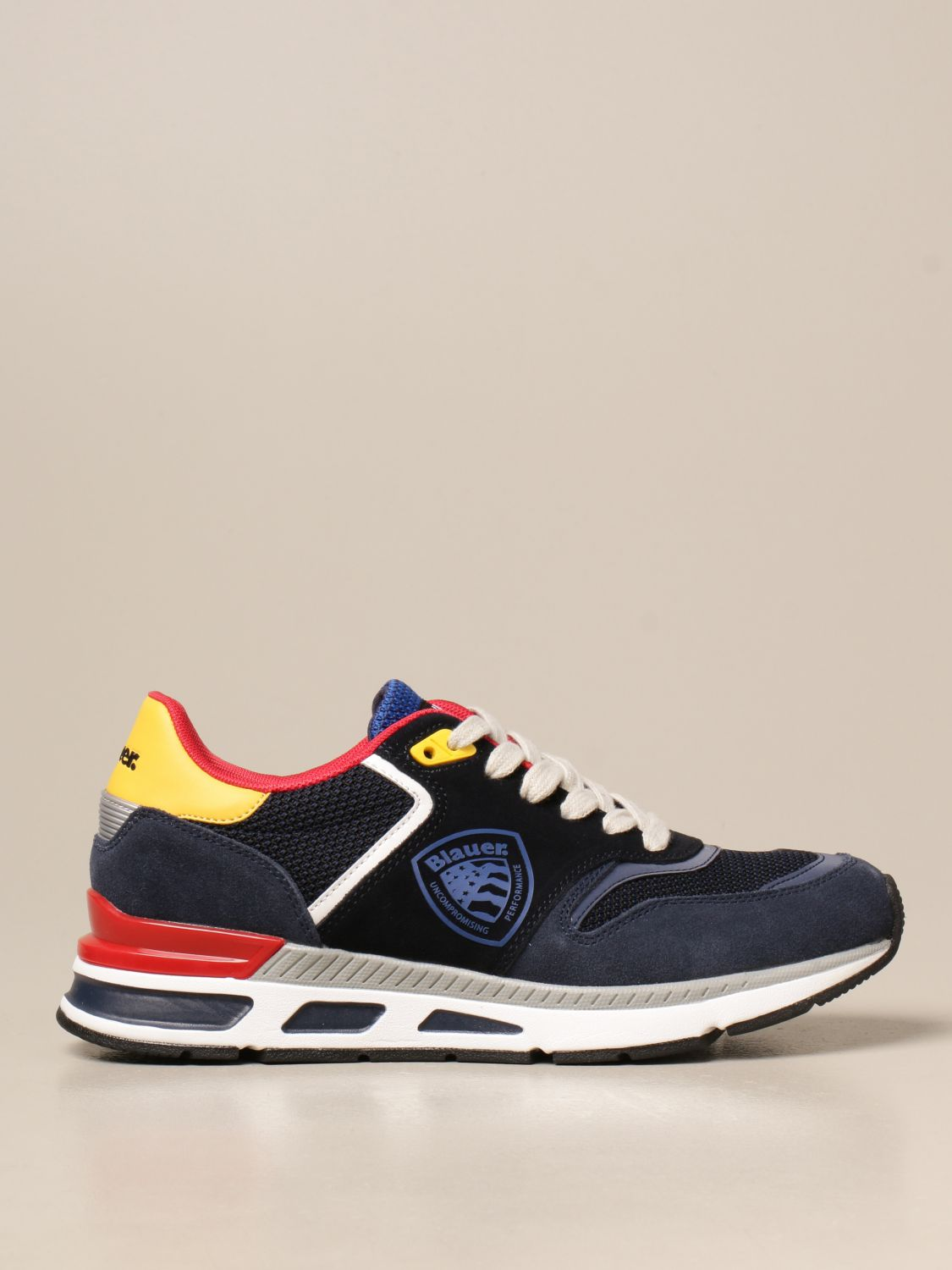 Sneakers Blauer: Blauer sneakers in suede and leather mesh blue 1