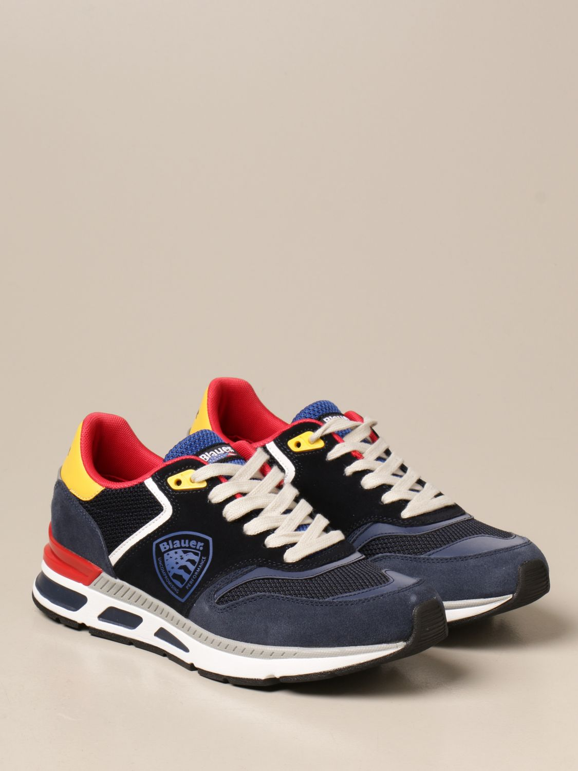 Sneakers Blauer: Blauer sneakers in suede and leather mesh blue 2