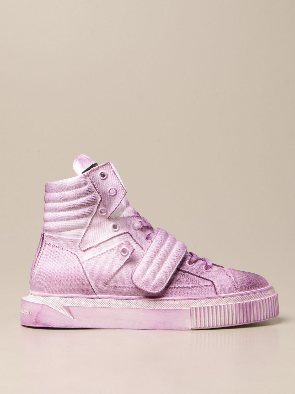Sneakers Gienchi: Sneakers Hypnos Gienchi in tela con effetto spruzzato viola 1
