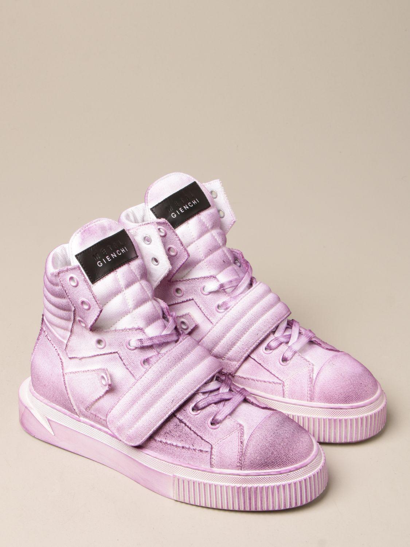 Sneakers Gienchi: Sneakers Hypnos Gienchi in tela con effetto spruzzato viola 2