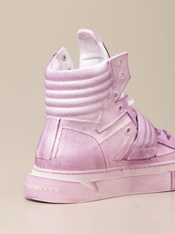 Sneakers Gienchi: Sneakers Hypnos Gienchi in tela con effetto spruzzato viola 3