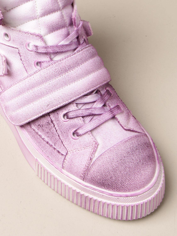 Sneakers Gienchi: Sneakers Hypnos Gienchi in tela con effetto spruzzato viola 4