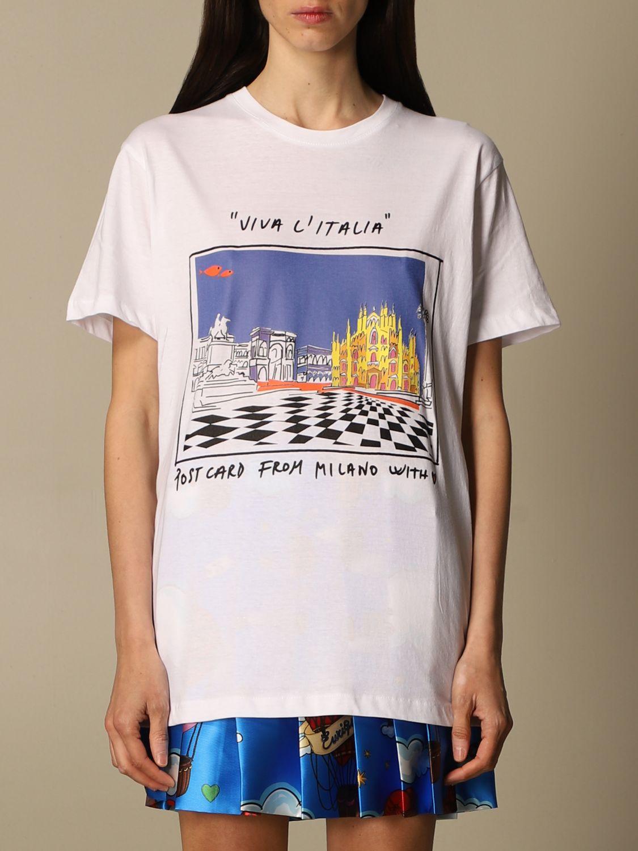 T-shirt Alessandro Enriquez: T-shirt femme Alessandro Enriquez blanc 1