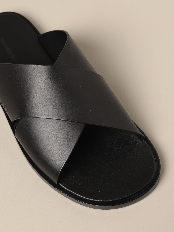 Sandales Balenciaga: Chaussures homme Balenciaga noir 4