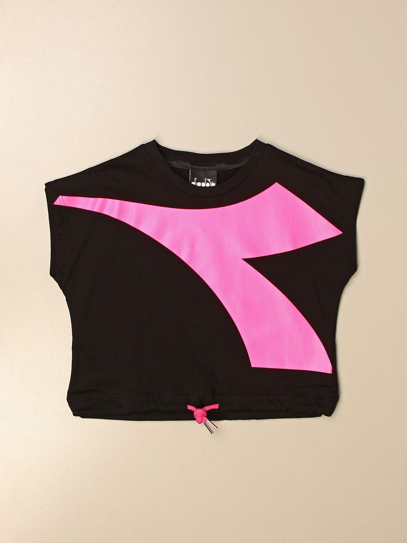 Camisetas Diadora: Camisetas niños Diadora negro 1