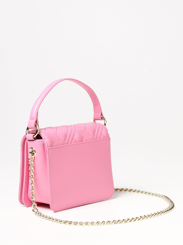 Borsa a mano Love Moschino: Borsa Love Moschino in pelle sintetica trapuntata con logo rosa 2