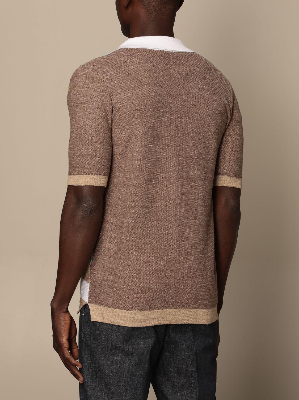 Shirt Altea: Altea color block cotton cardigan white 2