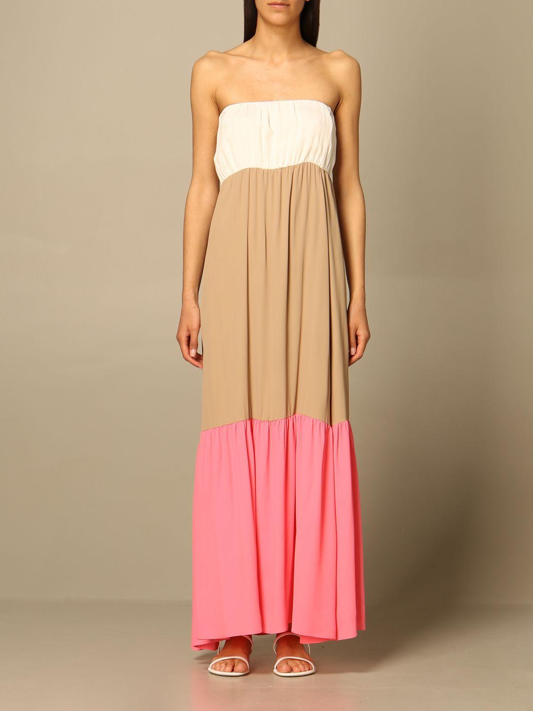 Kleid Semicouture: Kleid damen Semicouture weiß 1
