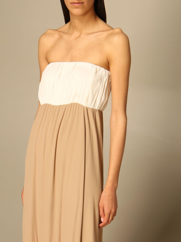 Kleid Semicouture: Kleid damen Semicouture weiß 3