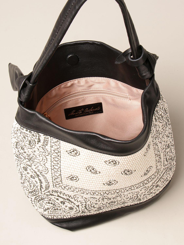 Bolso de hombro Anita Bilardi: Bolso de hombro mujer Anita Bilardi marfil 4