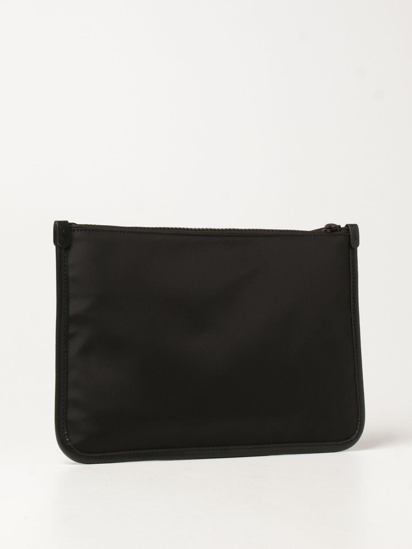 Portadocumenti Moschino Couture: Pochette Moschino Couture in tela con logo nero 3