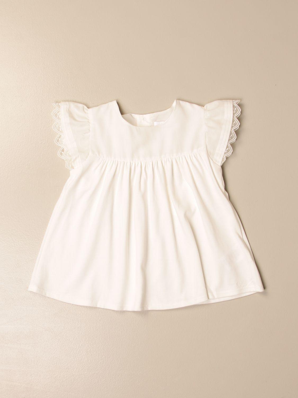Top Chloé: Top Chloé in cotone bianco 1