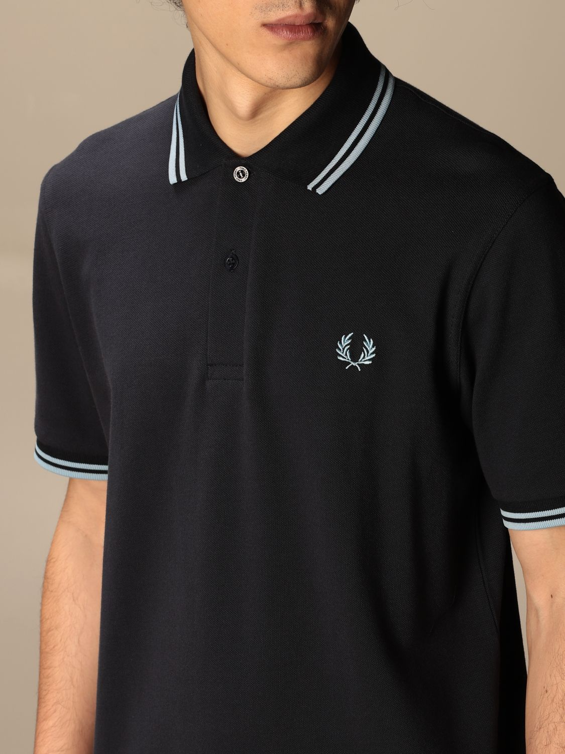Polo Fred Perry: Polo hombre Fred Perry azul marino 3