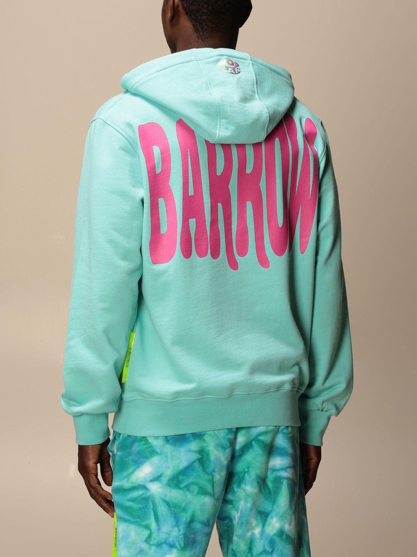 Felpa Barrow: Felpa con cappuccio Barrow con big logo turchese 2
