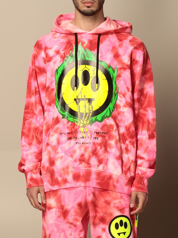 Sweatshirt Barrow: Barrow hoodie with big logo fuchsia 1