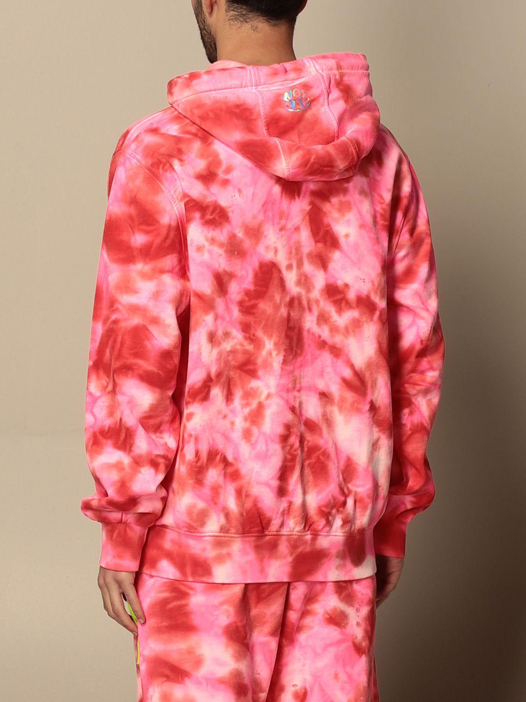 Sweatshirt Barrow: Barrow hoodie with big logo fuchsia 3