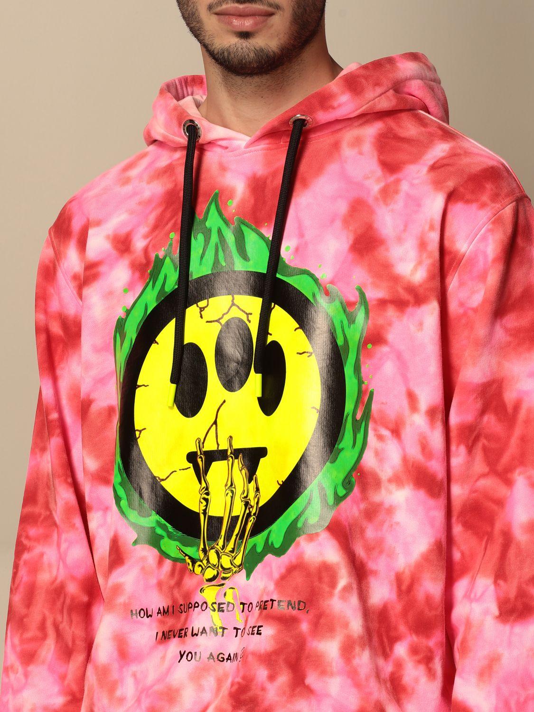 Sweatshirt Barrow: Barrow hoodie with big logo fuchsia 4