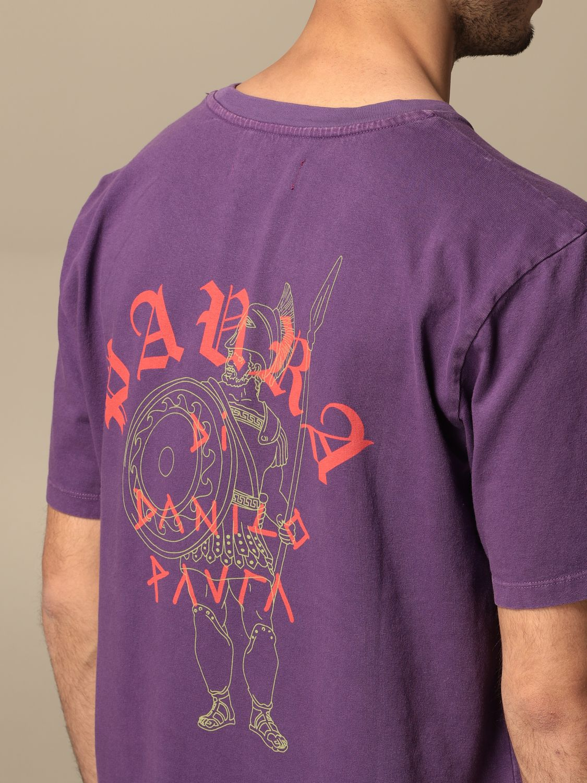 T-shirt Danilo Paura: T-shirt Danilo Paura con logo posteriore grigio 5