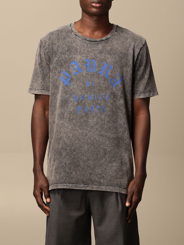T-shirt Danilo Paura: T-shirt Danilo Paura con logo grigio 1