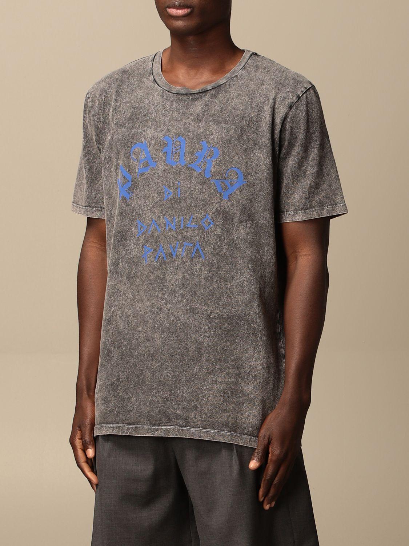 T-shirt Danilo Paura: T-shirt Danilo Paura con logo grigio 3