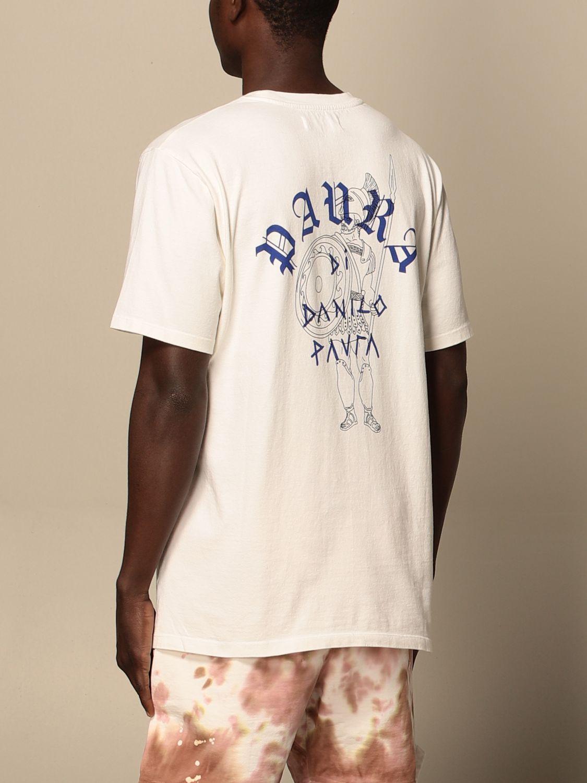 T-shirt Danilo Paura: T-shirt Danilo Paura in cotone con logo bianco 3