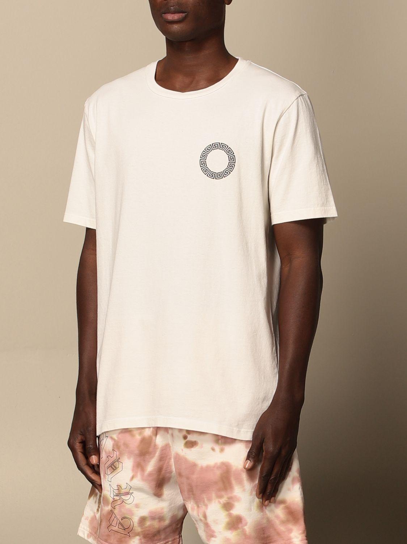 T-shirt Danilo Paura: T-shirt Danilo Paura in cotone con logo bianco 4