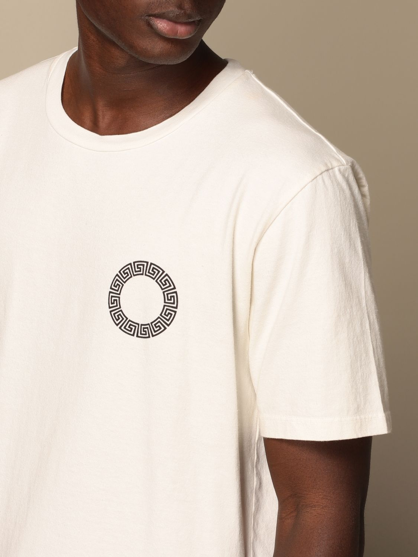 T-shirt Danilo Paura: T-shirt Danilo Paura in cotone con logo bianco 5