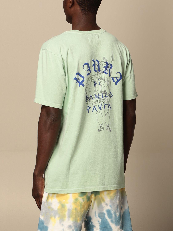 T-shirt Danilo Paura: T-shirt Danilo Paura in cotone con logo grigio 2