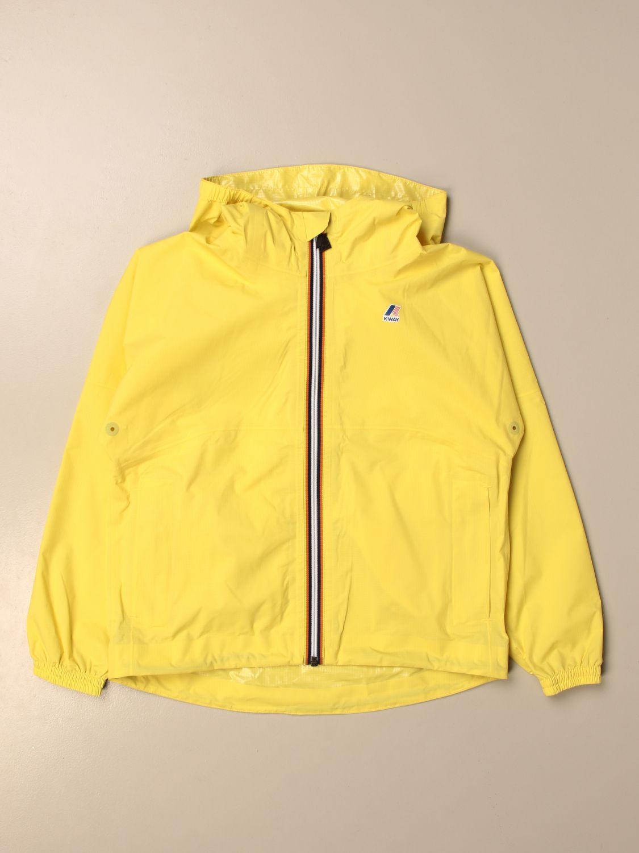 Giacca K-Way: Giacca con zip K-way con logo giallo 1