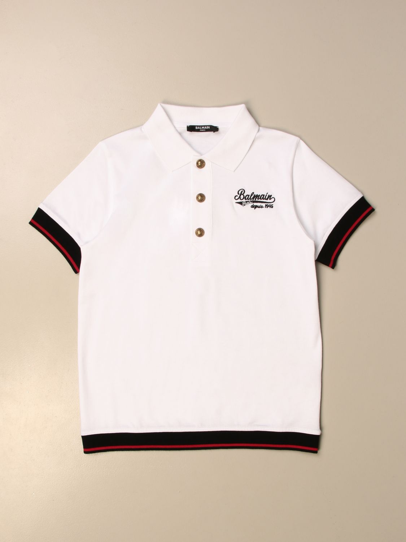 Polo Balmain: Camiseta niños Balmain blanco 1