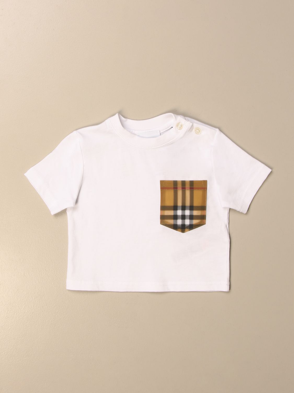 Camiseta Burberry: Camiseta niños Burberry blanco 1 1