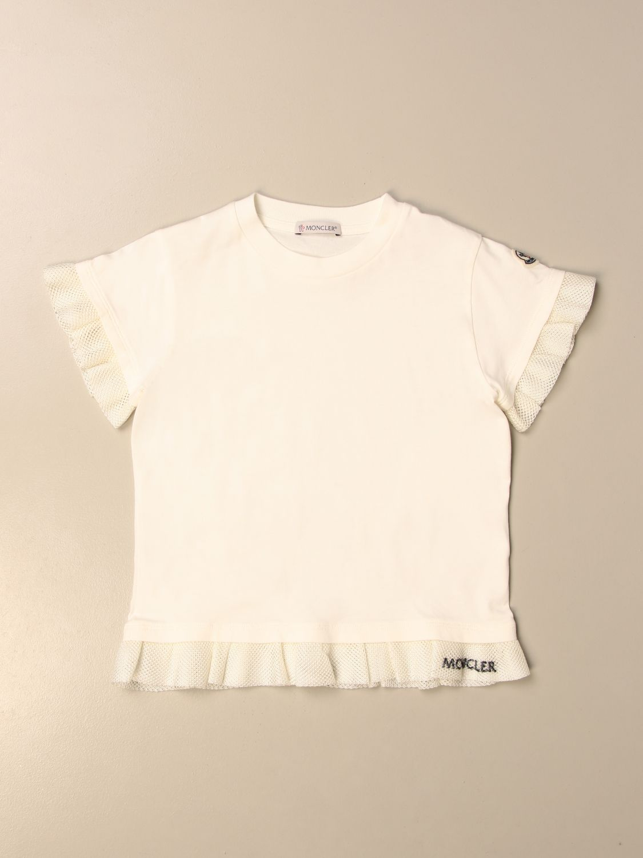 Футболка Moncler: Футболка Детское Moncler белый 1