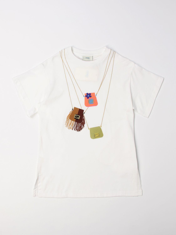 Dress Fendi: Fendi short dress with bags print white 1