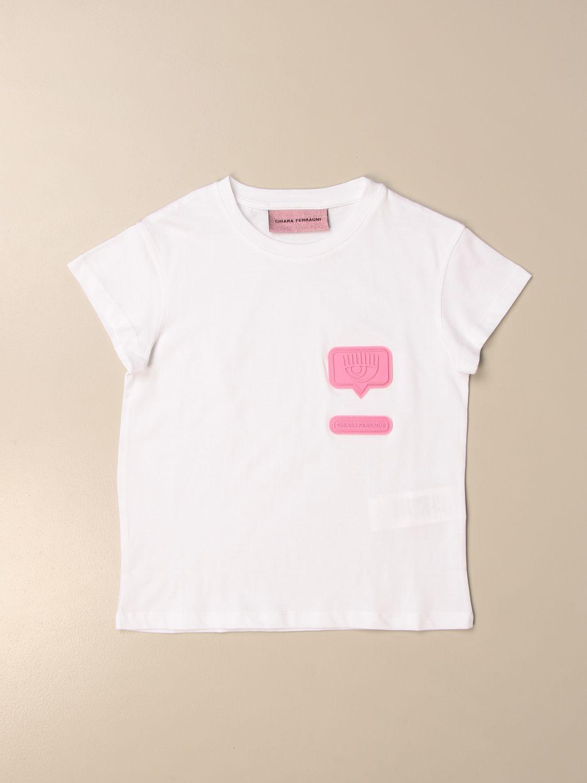 Camisetas Chiara Ferragni: Camisetas niños Chiara Ferragni blanco 1