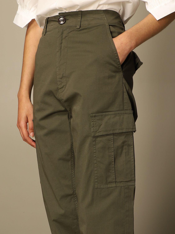 Hose Semicouture: Hose damen Semicouture grün 4