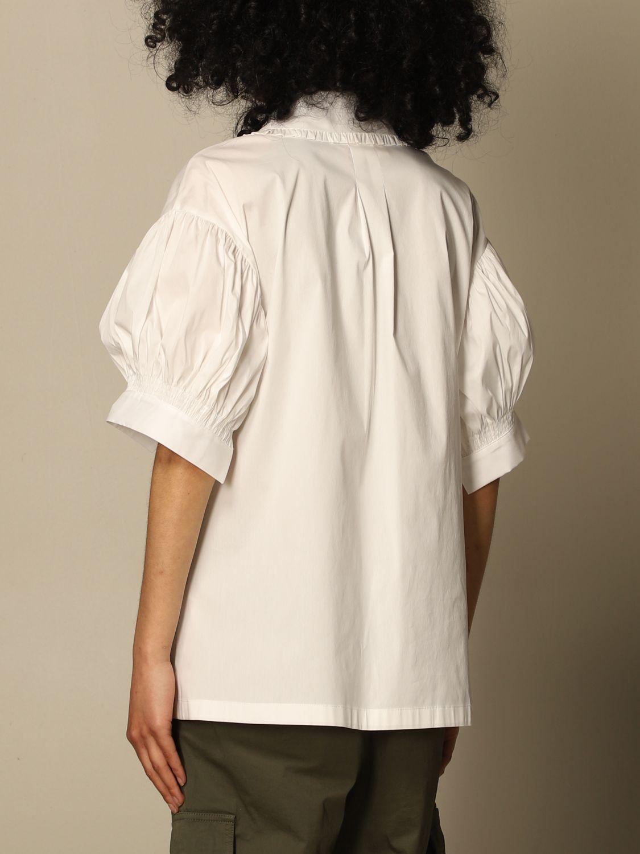 Hemdbluse Semicouture: Hemdbluse damen Semicouture weiß 3