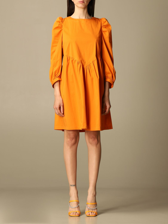 Kleid Semicouture: Kleid damen Semicouture orange 1